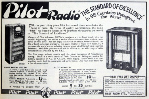 pilot radio advert